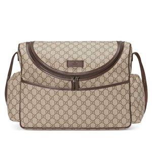[GUCCI] Basic GG Supreme Canvas Diaper Bag -Beige